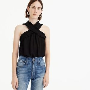 Jcrew Dapey Wrap Front Top
